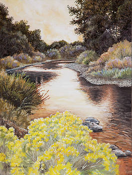 Evening on the John Day River by Patricia Baehr-Ross