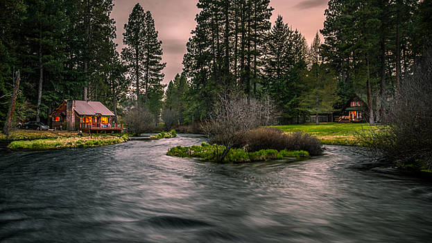 Evening on the Metolius by Joe Hudspeth