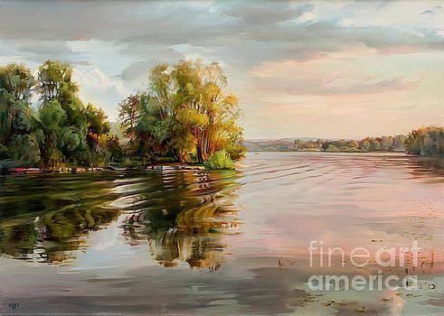 Evening on the Volga river by Roman Romanov