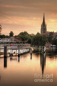 Evening over Marlow by Martin Williams