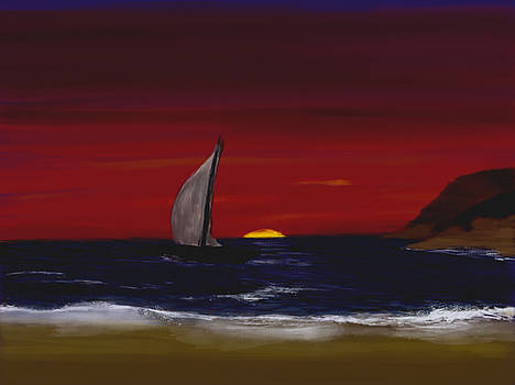 Evening Sail by Dick Bourgault
