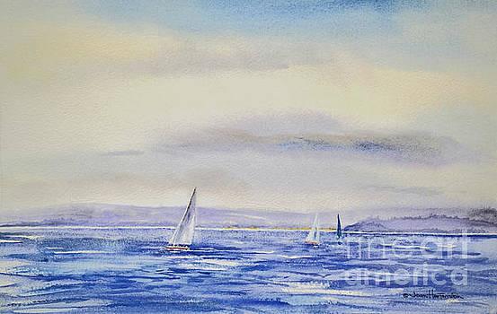 Evening Sail on Little Narragansett Bay by Joan Hartenstein