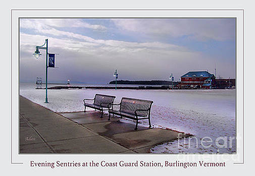 Felipe Adan Lerma - Evening Sentries at the Coast Guard Station Poster Greeting Card