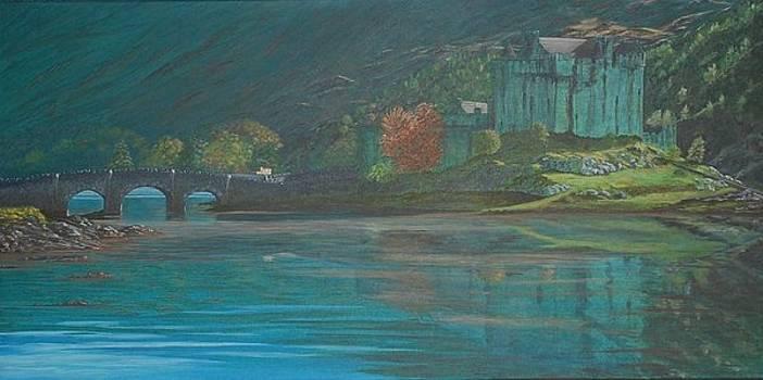 Evening Shadows on Eilean Donan by Fay Reid