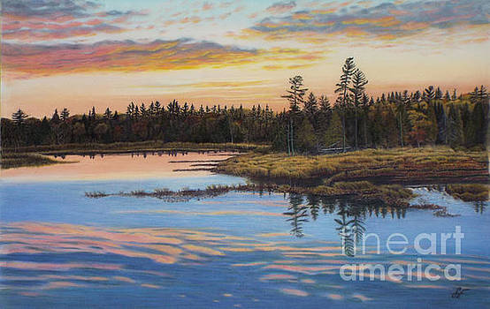 Evening Sigh view from highway 60 in Algonquin Park by Susan Fraser SCA  B Sc