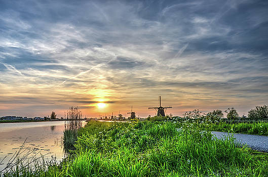 Evening Splendor at Kinderdijk by Frans Blok