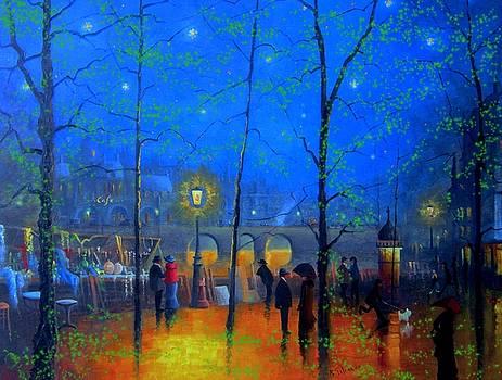 Evening Street Market Paris by Joe Gilronan
