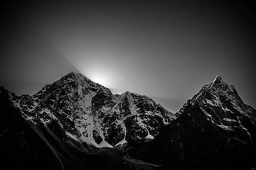 Evening Sunbeams In Pheriche by Owen Weber