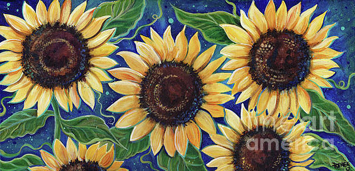 Evening Sunflowers by Renee Lavoie