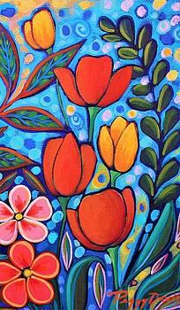 Evening Tulips by Peggy Davis