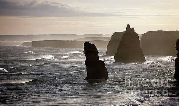 Evening view of the Twelve Apostles by John Gaffen
