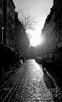 Felipe Adan Lerma - Evening Walk in Paris BW