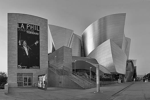 Evening with Gustavo - Walt Disney Concert Hall - Black and White Rendition by Ram Vasudev