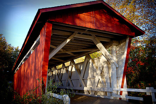 Everett Road Covered Bridge by Tim Fitzwater