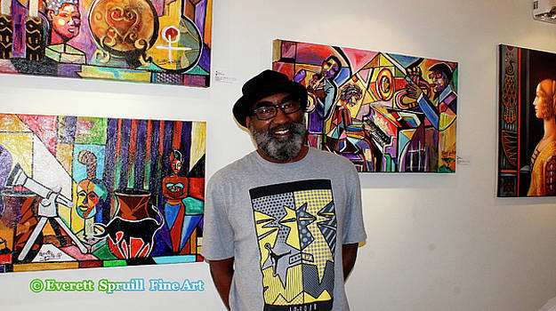 Everett's exhibition at the O'keeffe Center for Creative Education 2016 by Everett Spruill