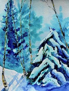 Evergreens And Aspens In Snow by Beverley Harper Tinsley