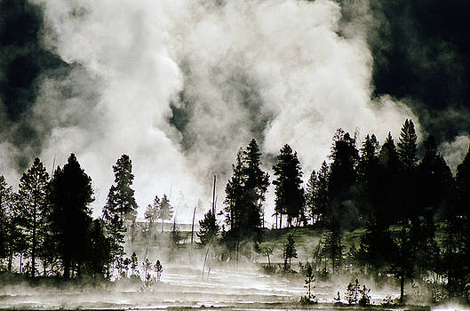 Evil Arising Over the Fire River Basin Yellowstone by Larry Moloney