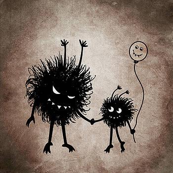 Evil Bug Mother And Child by Boriana Giormova