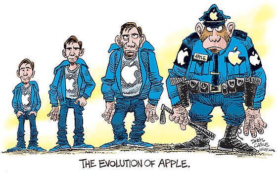 Evolution of Apple by Daryl Cagle