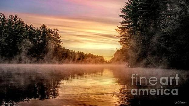 Exceptional Sunrise on the Androscoggin by Jan Mulherin