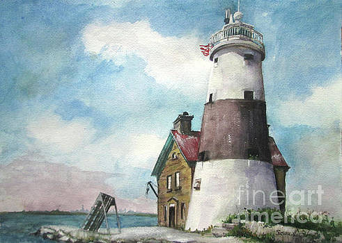 Execution Rocks Lighthouse by Susan Herbst