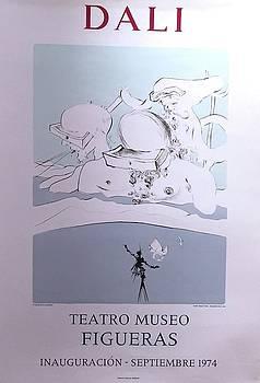 Exhibition Poster Dali Teatro Museo Figueras 1974 by Salvatore Dali