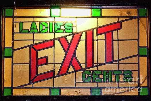Tatiana Travelways - EXIT - LADIES/GENTS art deco sign