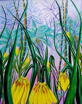 Exotic Yellow Blooms by Kathern Welsh