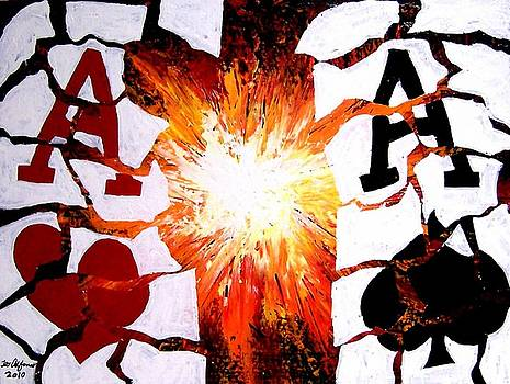 Exploding Aces Poker Art by Teo Alfonso
