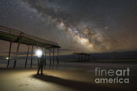 Exploring Frisco Pier at Night  by Michael Ver Sprill