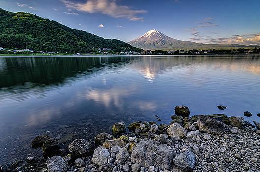 Exploring my way along Lake Kawaguchi Shoreline by Craig Szymanski