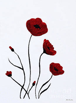Expressive Abstract Poppies A6116C_e by Mas Art Studio