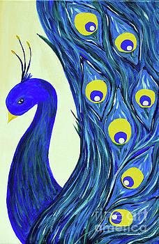 Expressive Brilliant Peacock B71117 by Mas Art Studio