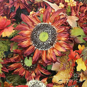 Expressive Digital Sunflowers Photo A572016 by Mas Art Studio