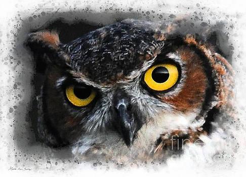 Expressive Owl Digital A2122216 by Mas Art Studio