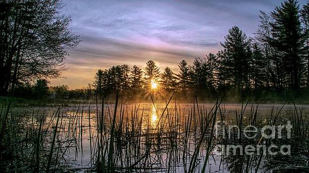 Exquisite Sunrise on the Androscoggin River 2 by Jan Mulherin