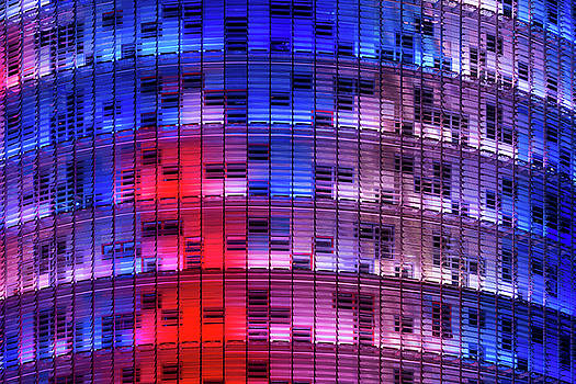 Exterior of Torre Agbar in Barcelona, Spain by Blaz Gvajc