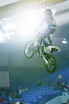 Extreme Motorcycle Stunt Jump by Steven Green