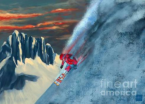 Extreme ski painting  by Sassan Filsoof