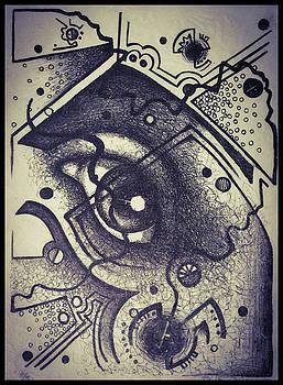 Eye Lithograph  by Matt Mercer