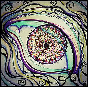 Eye Mandala Tapestry  by Matt Mercer