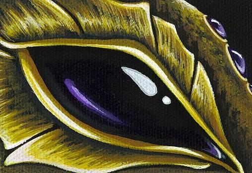 Eye Of Deep Amethyst by Elaina  Wagner
