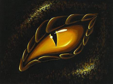 Eye Of Golden Embers by Elaina  Wagner