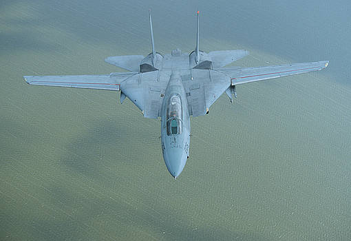 F-14 Tomcat over the Atlantic by John Clark