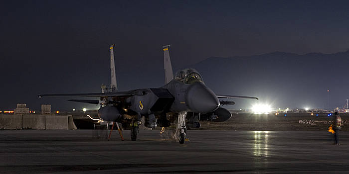 Tim Grams - F-15E Leaving for a Night Mission
