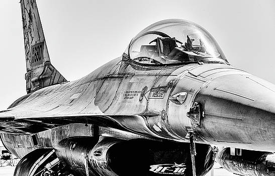 F-16 Monochrome by Alan Roberts