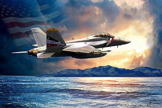 Bounty Hunter fighter jet, America the Beautiful by Regina Femrite