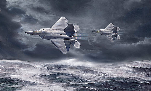 James Vaughan - F-22 Raptors Over Water
