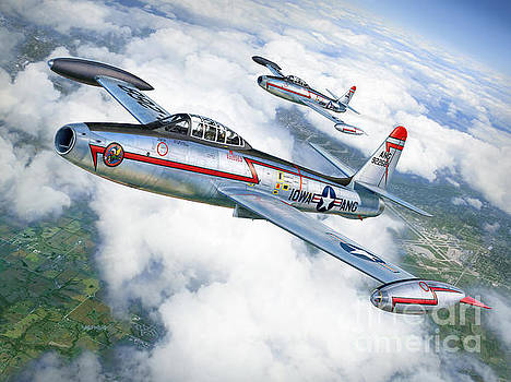 F-84 Thunderjet Iowa ANG by Stu Shepherd
