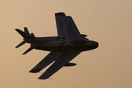 John Clark - F-86 Sabre Formation at Sunset